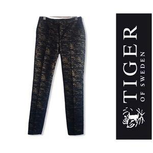 Tiger of Sweden Slim Fit Black Bronze Trousers 36